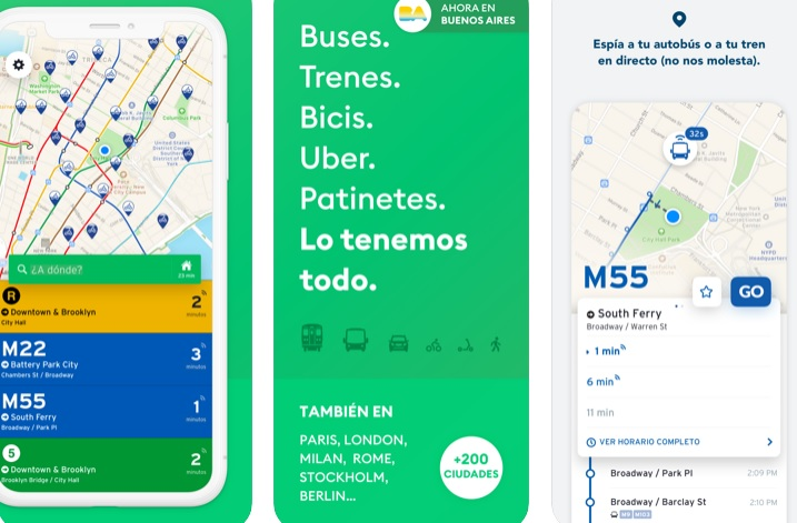 Interfaz de Transit para iOS