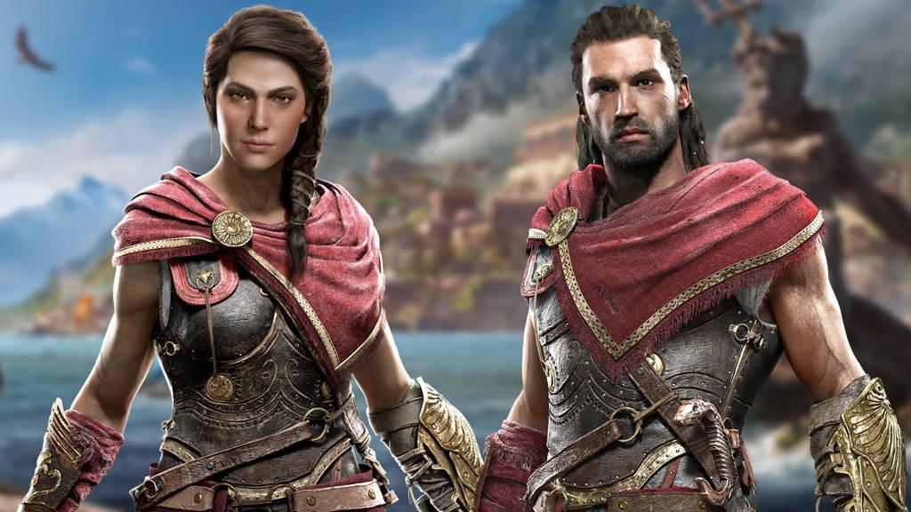 Kassandra y Alexios en AC Odyssey
