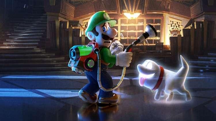 Luigi explora en Hotel Gritz en Luigi's Mansion 3