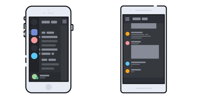The Discord mobile apps