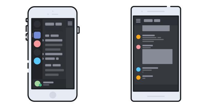 Les applications mobiles Discord