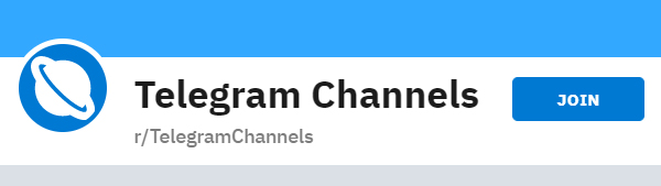 The Reddit channel for Telegram channels