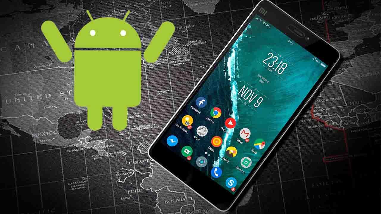 Logo de Android con smartphone