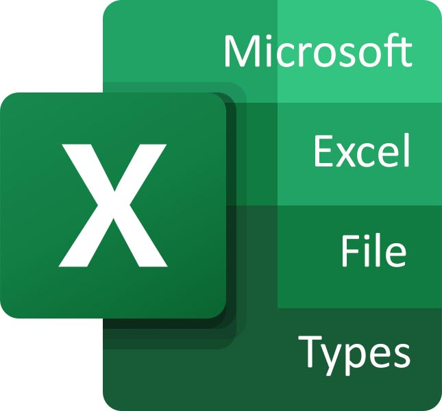 All file extensions for Microsoft Excel
