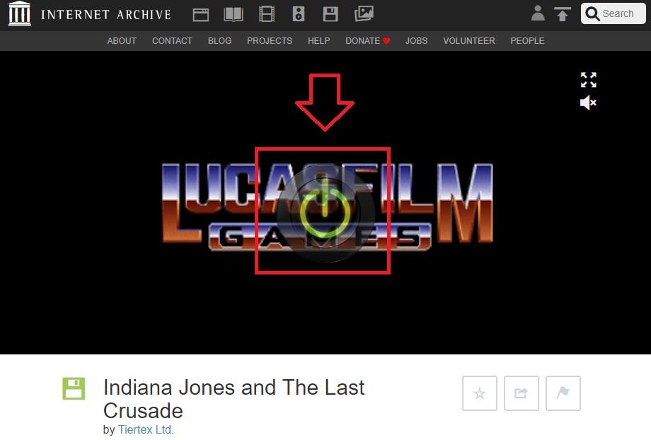 Cómo jugar a un videojuego de Archive.org
