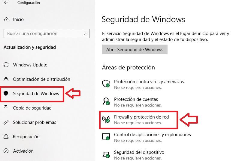 Interfaz de Seguridad de Windows