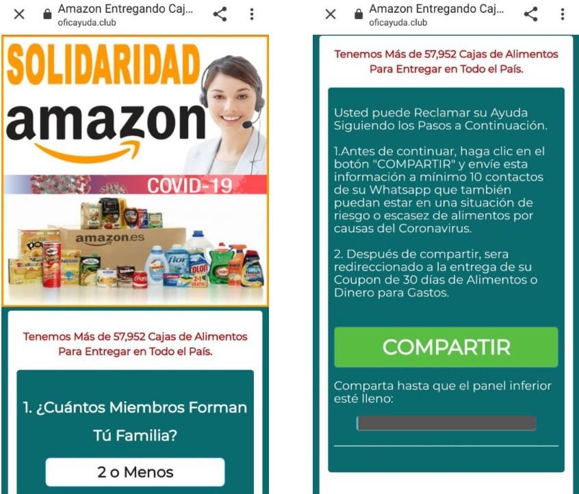 Bulo de las cajas de alimentos de Amazon