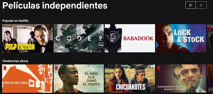 Películas independientes en Netflix