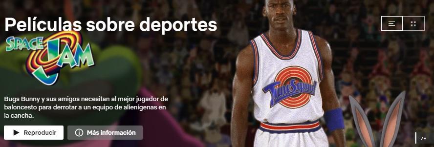 Películas sobre deportes en Netflix