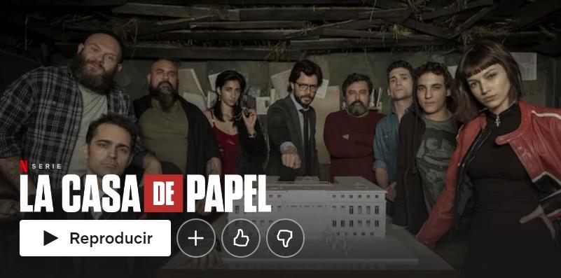 La casa de papel en Netflix