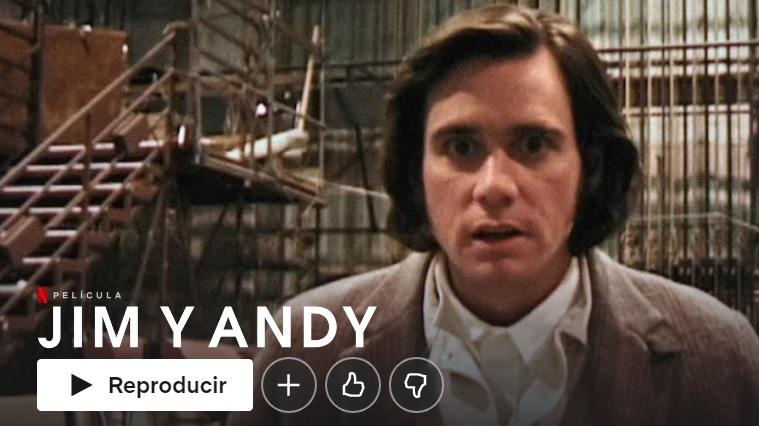 Jim y Andy en Netflix