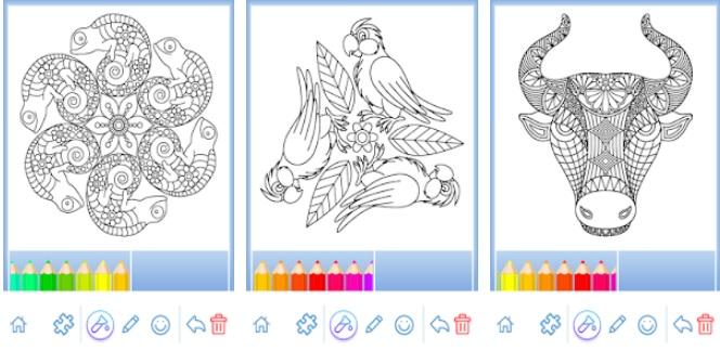 Pantallas de Libro para Colorear Mandalas
