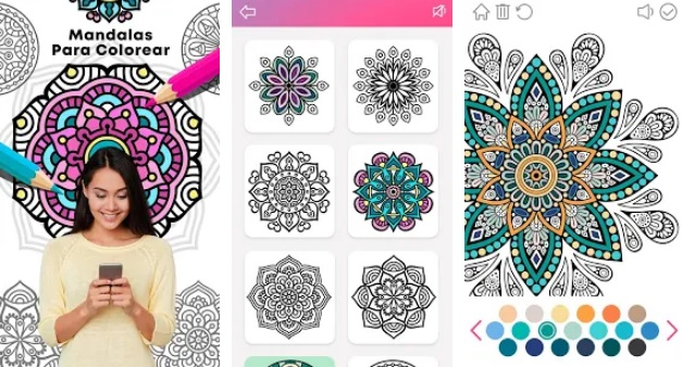 Interfaz de Mandalas para Colorear