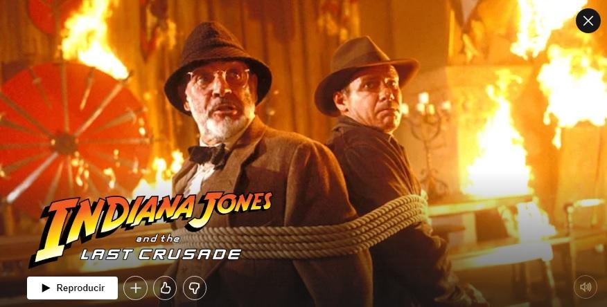 Indiana Jones y la Última Cruzada en Netflix