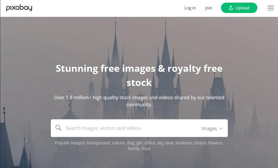 Página oficial de Pixabay
