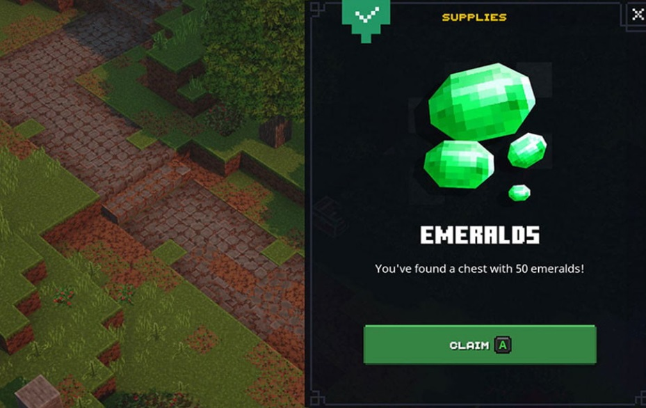 Emeralds in Minecraft dungeons
