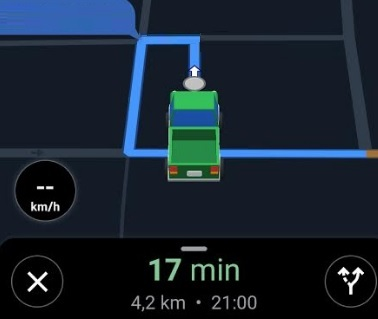 Icono de coche en Google Maps