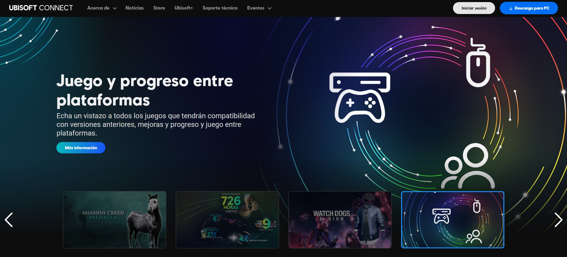 Página oficial de Ubisoft Connect