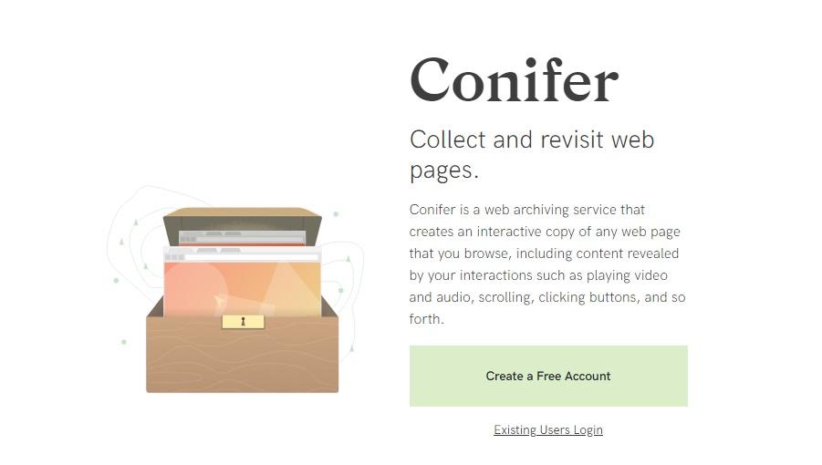 Página oficial de Conifer