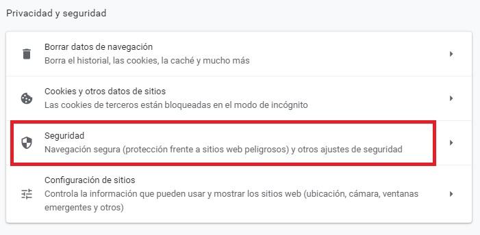 Privacidad y Seguridad en Chrome