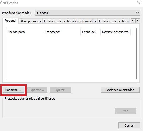 Importar certificado electrónico en Chrome