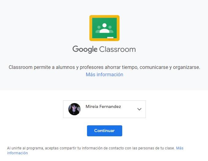 Acceder a Google Classroom