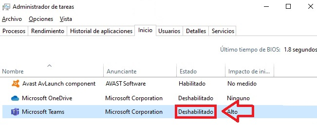 Cómo deshabilitar Microsoft Teams