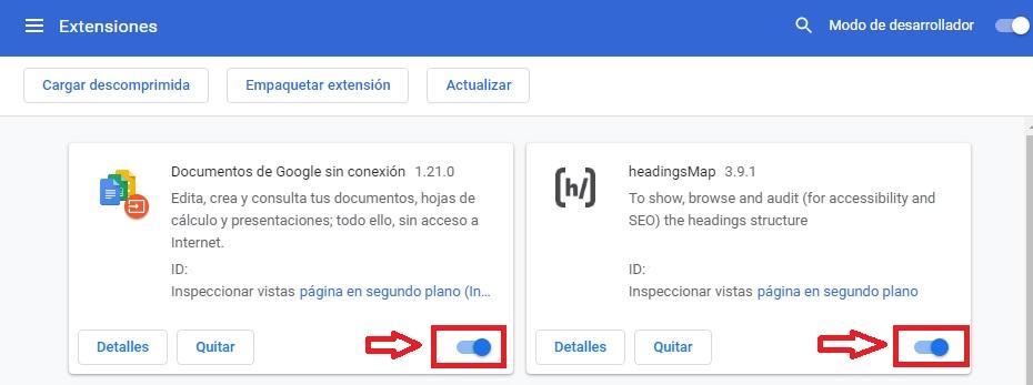 Cómo activar las extensiones de Chrome
