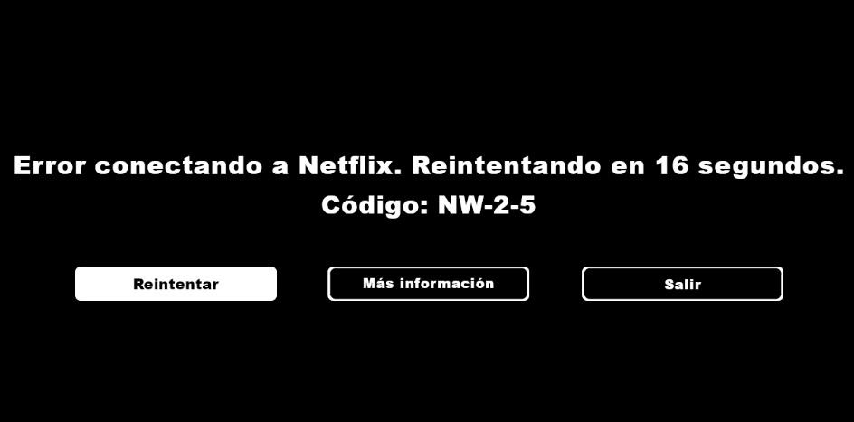 Error Netflix NW-2-5