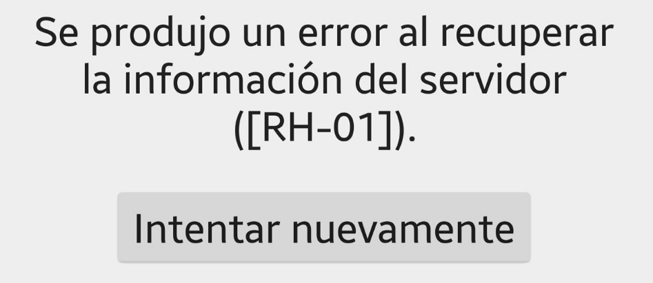 Error en el servidor de Google Play