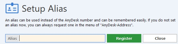 Elegir alias de AnyDesk