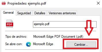 Cambiar programa predeterminado en Windows