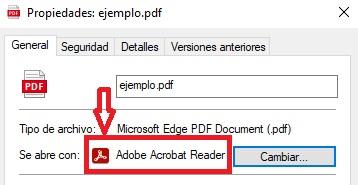 Propiedades de un archivo PDF