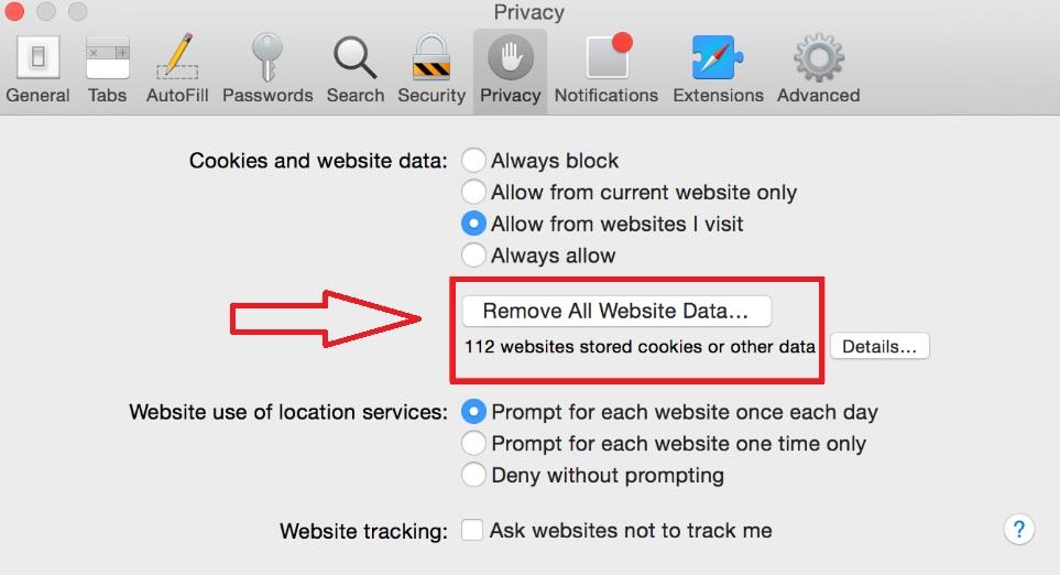 Eliminar los datos de navegación de Safari