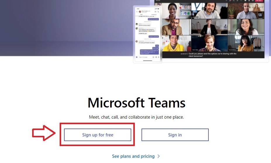 Registro Microsoft Teams