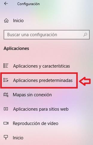 Aplicaciones predeterminadas de Windows 10