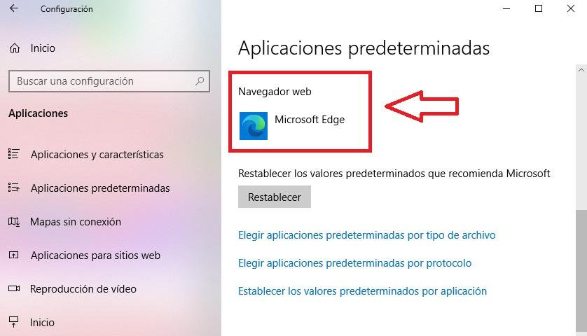 Navegador web de Windows 10