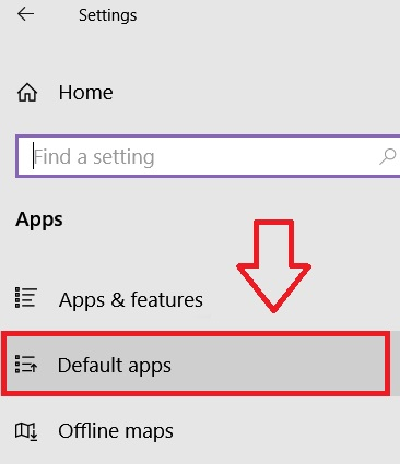 Default apps from Windows 10