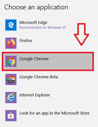 Setting Chrome as default browser