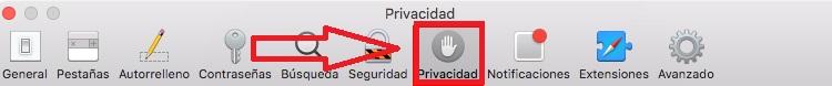 Privacidad en Safari