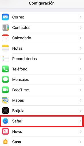 Configuración de Safari