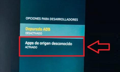 Activar instalación de apps de origen desconocido