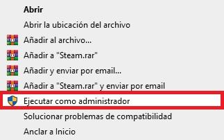 Ejecutar Steam como administrador