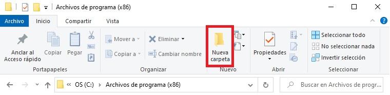 Cómo crear una nueva carpeta
