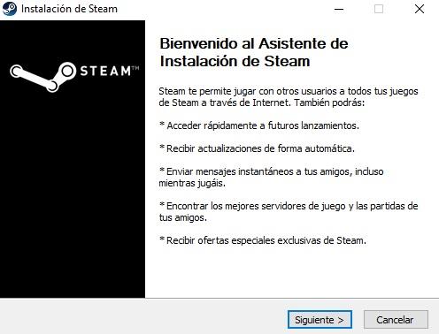 Asistente de instalación de Steam