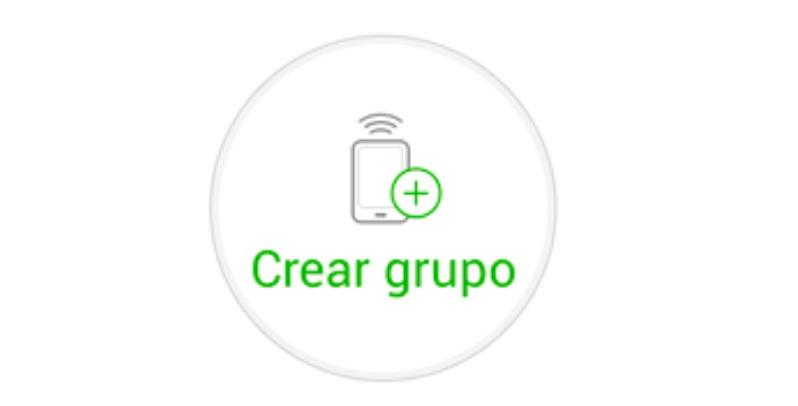 Crear grupo en Xender
