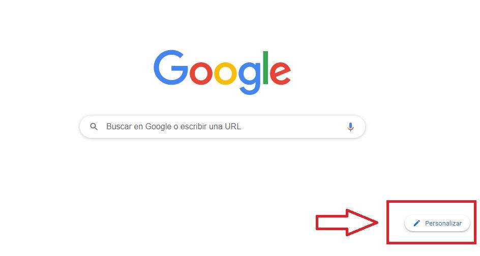 Personalizar el fondo de Chrome