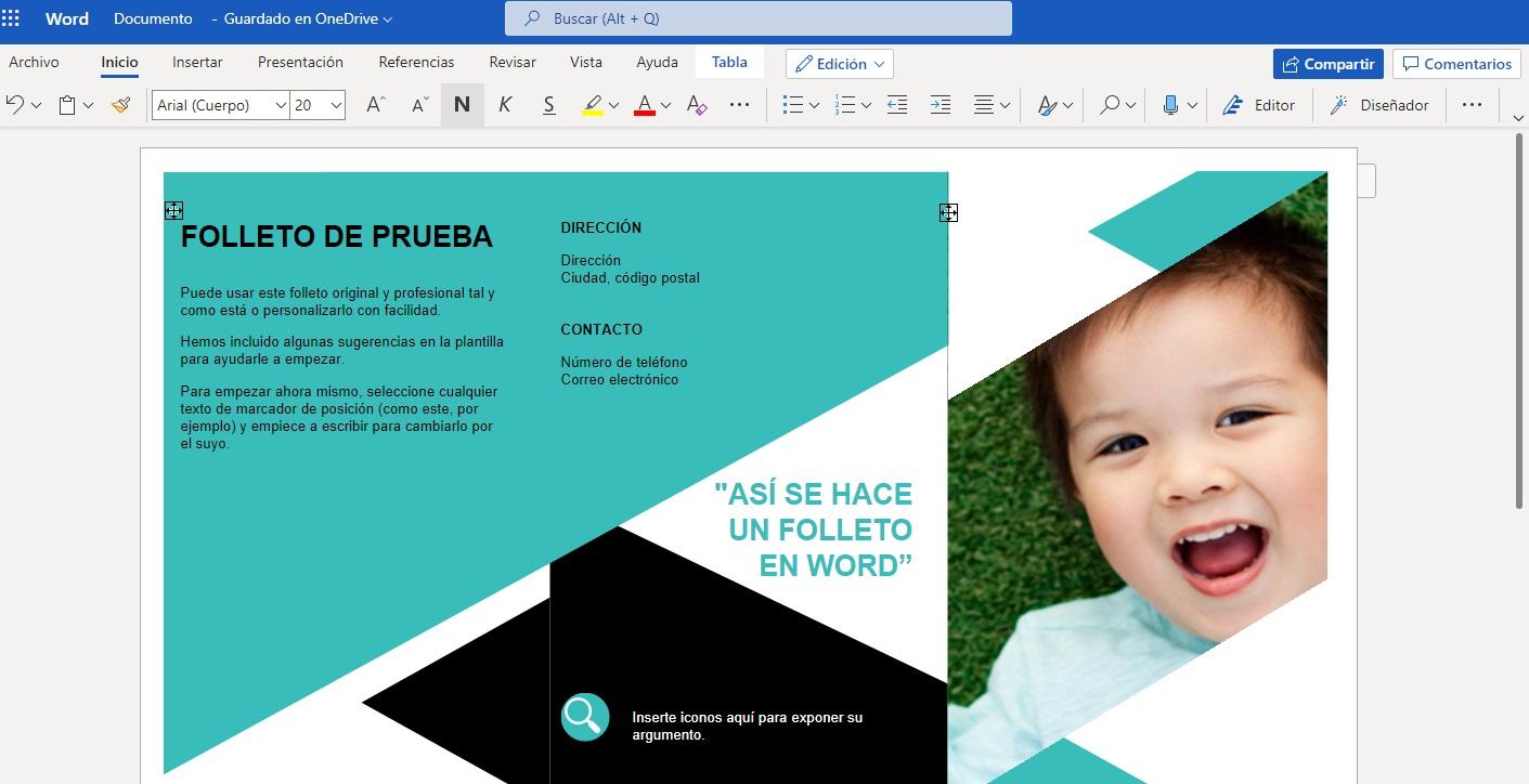 Crear folleto en Word