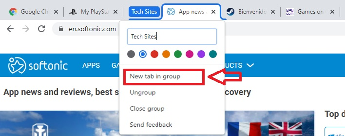 How to add new tabs in crome