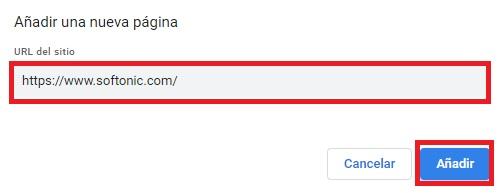 Cambiar la página de inicio de Chrome